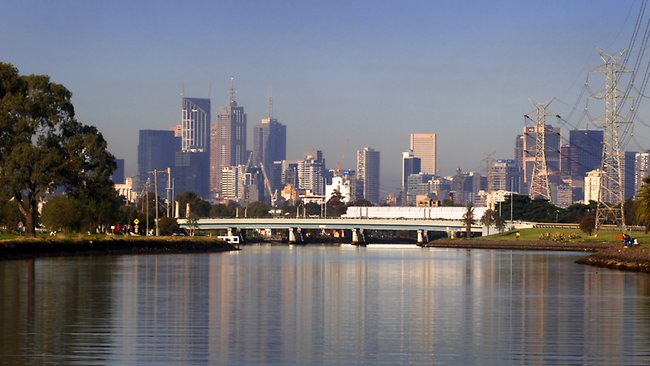Melbourne City backdrop to the course